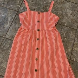 Cute knee length button up dress